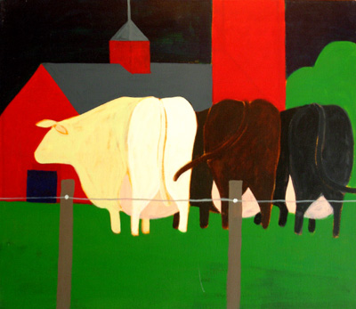 Farm Painting -Cows